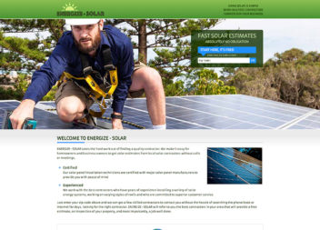 Web Design for Solar Panel Company