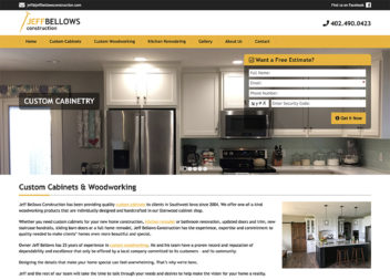 Web Design for a Custom Cabinet Manufacturer