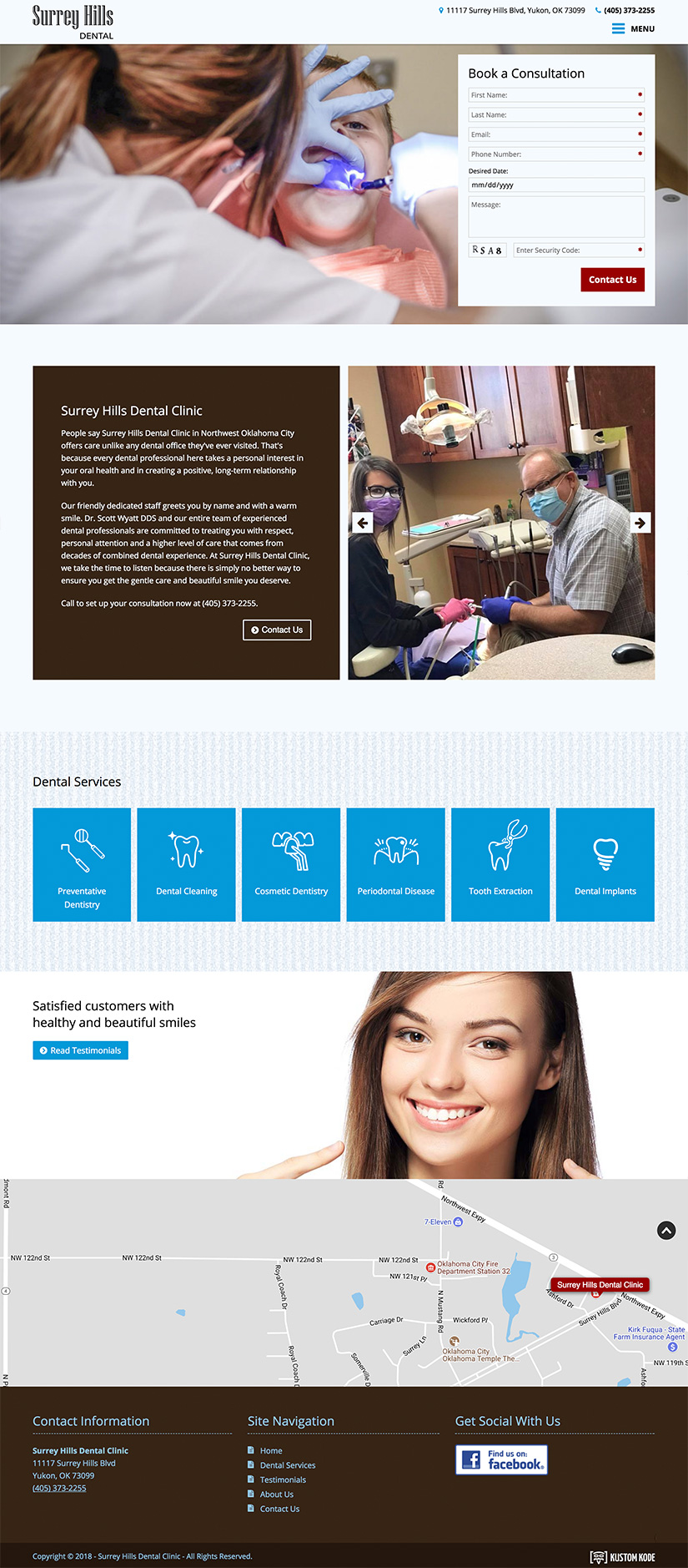 Web Design for a Dental Clinic
