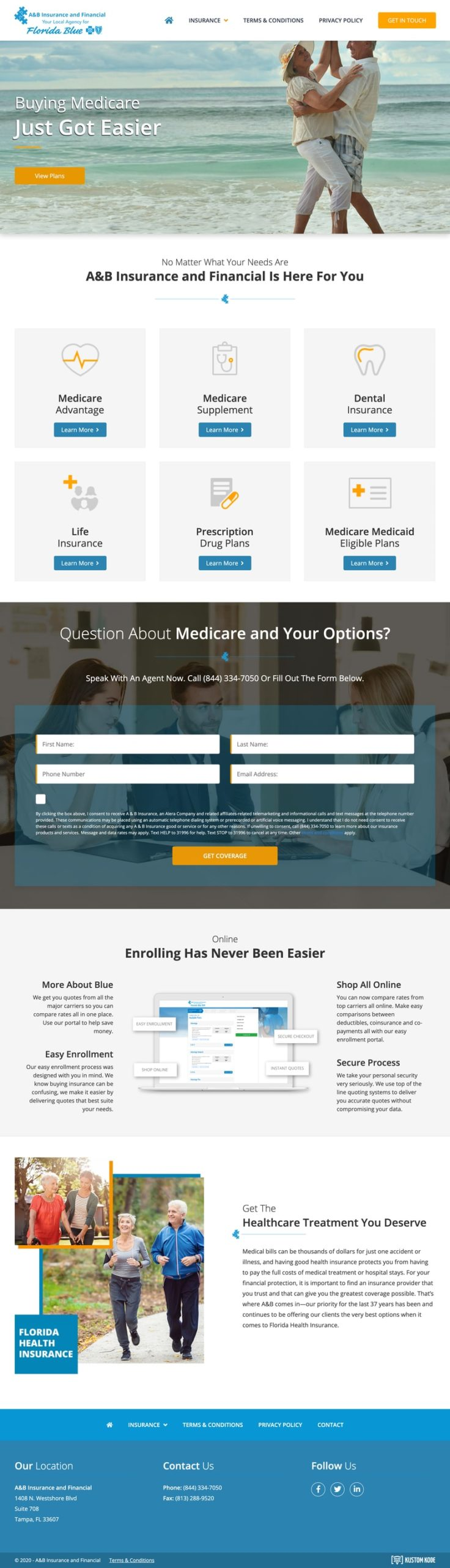 Web Design for an Insurance Company